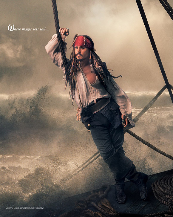 Annie Leibovitz for Disney: Johnny Depp as Jack Sparrow / Annie Leibovitz per Disney: Johnny Depp è Jack Sparrow