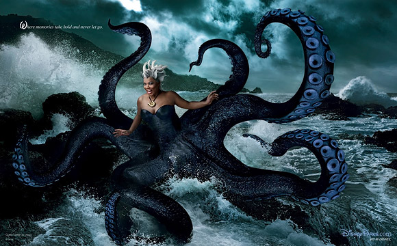 Annie Leibovitz for Disney: Queen Latifah as Ursula from The Little Mermaid / Annie Leibovitz per Disney: Queen Latifah è Ursula de La Sirenetta