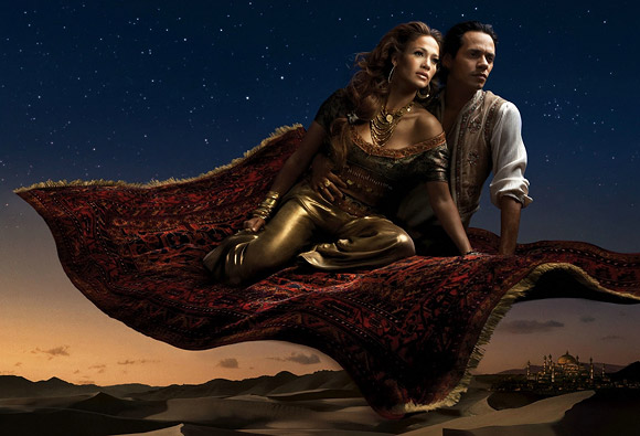 Annie Leibovitz for Disney: Jennifer Lopez and Marc Anthony as Jasmine and Aladdin<br /> Annie Leibovitz per Disney: Jennifer Lopez e Marc Anthony sono Jasmine e Aladdin