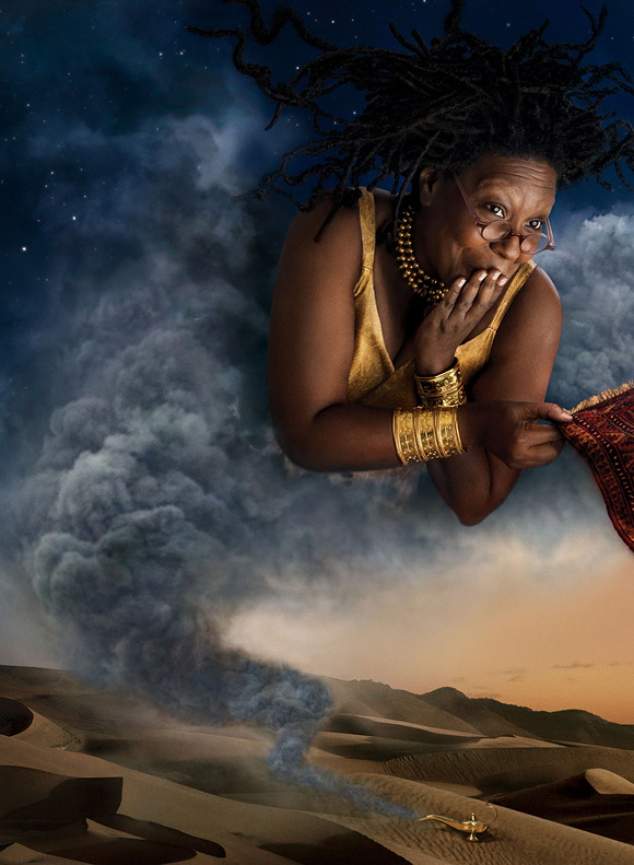 Annie Leibovitz for Disney: Whoopi Goldberg as The Genie from Aladdin / Annie Leibovitz per Disney: Whoopi Goldberg è il Genio di Aladdin