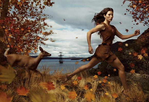 Annie Leibovitz for Disney: Jessica Biel as Pocahontas / Annie Leibovitz per Disney: Jessica Biel è Pocahontas