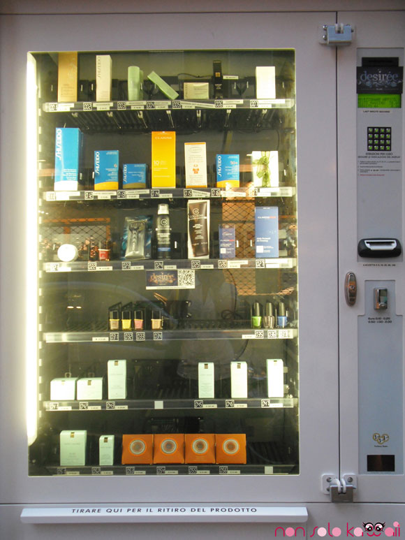 vending machine make up Milano, distributore di trucchi
