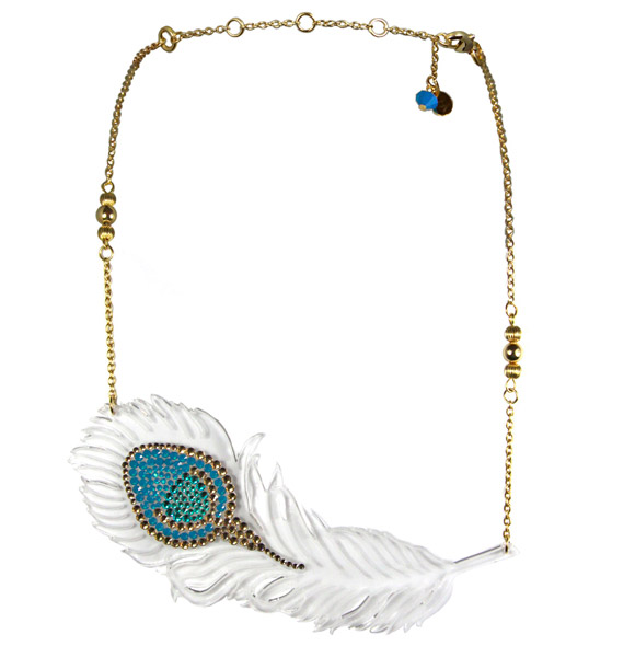 Tarina Tarantino - Topkapi Magic Feather Necklace - collana piuma magica