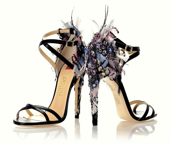Ballin - Jewel Sandal with Feathers - Sandalo Gioiello con Piume