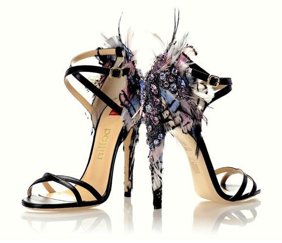 Ballin - Jewel Sandal with Feathers - Sandalo Gioiello con Piume