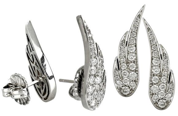 Anita Ko - White Gold Diamond Pavé Wing Earrings, orecchini con ali