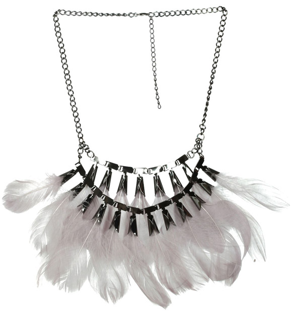 Arden B. - Feather Statement Necklace