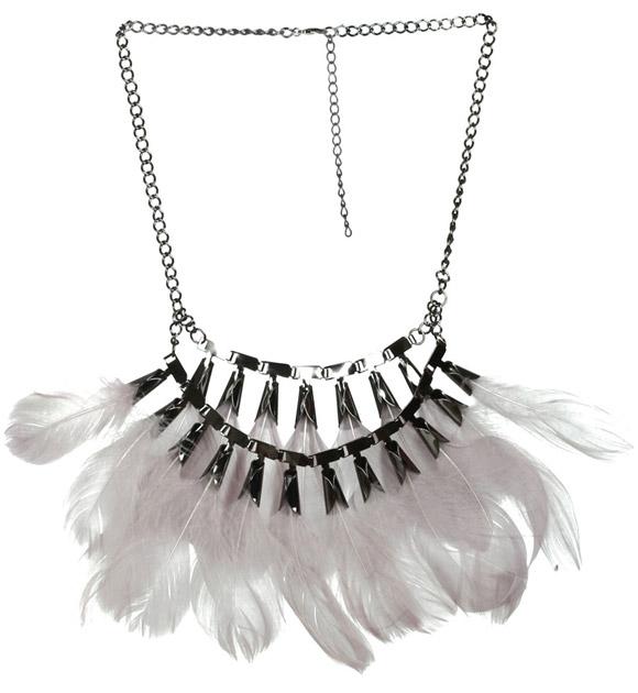 Arden B. - Feather Statement Necklace