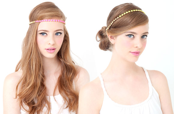 Ban.do - Contrast Headwrap, fascia capelli fucsia e oro