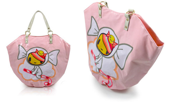 Tokidoki - Candy Cane Bag, borsa kawaii con Caramellina character di simone legno