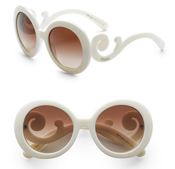 Prada - Baroque Sunglasses ivory, occhiali bianchi