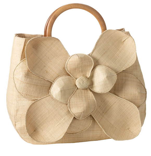 Mar y Sol - Guadalupe Straw Shopper Flower, Natural, borsa di paglia con fiore
