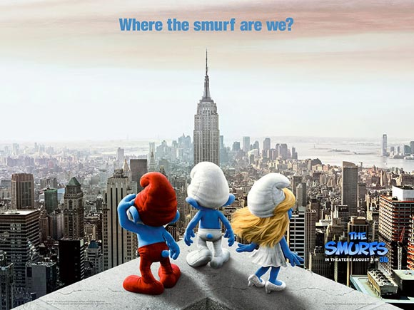 The Smurfs movie, i puffi film