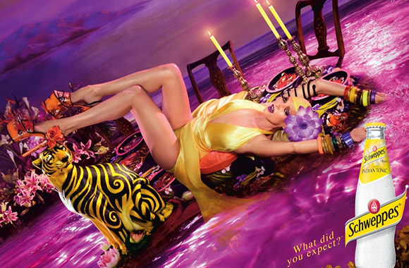 Schweppes, Uma Thurman by David LaChapelle