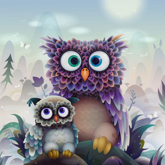 Zutto - Owl Character for Computer Arts Projects Tutorial