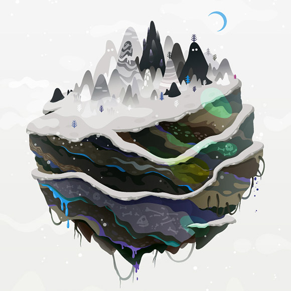 Zutto  - - Winter Mountains Snow Globe, Montagne Innevate Palla di Neve