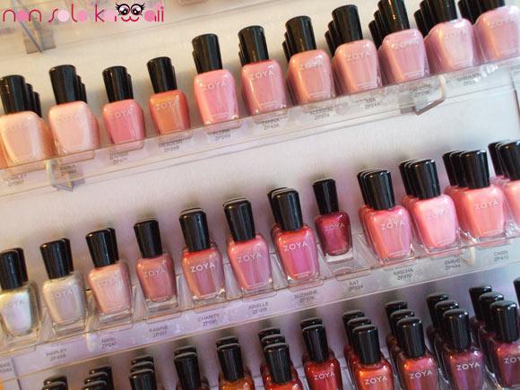 Zoya pink shades nail polish, smalti di colori rosa