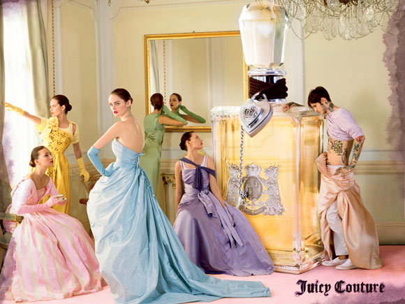 Juicy Couture Fragrance - Juicy Couture Original, adv by Tim Walker, model Lisa Cant