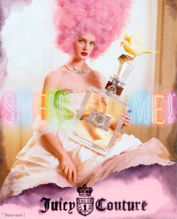 Juicy Couture Fragrance, adv by Tim Walker, model Lisa Cant with pink hair