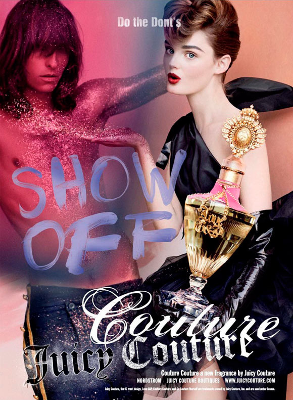 Juicy Couture Fragrance - Couture Couture, model Lisa Cant
