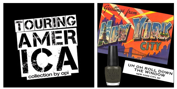 OPI, Touring America, Uh-oh Roll Down the Window