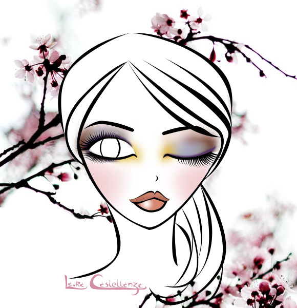 End of Summer Bud Make-up, Illustration by Laura Castellanza