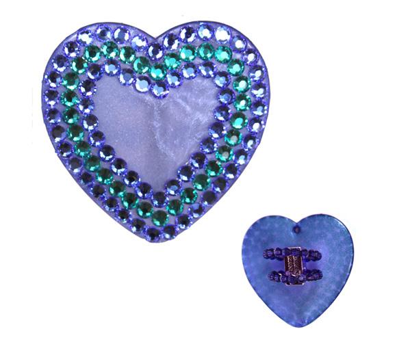 Tarina Tarantino - Crystal Heart Ring, Sapphire, anello a forma di cuore blu kawaii
