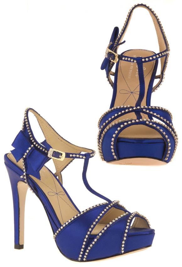 Pour La Victoire - Blissa Sandals, Royal Blue, sandali bianchi blue elettrico