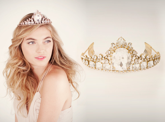 Ban.do - Empress Tiara, coroncina di cristalli romantica