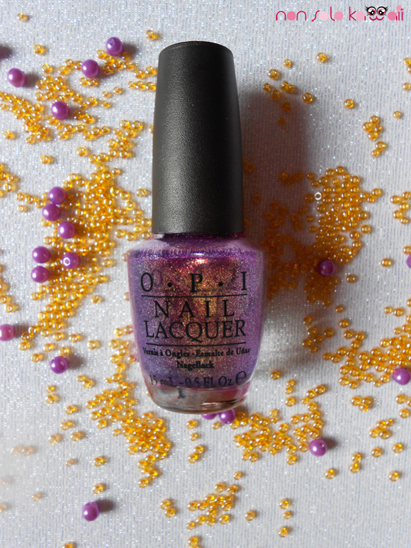 OPI It's MY Year! swatch, pink purple gold Miss Universe Collection nail polish, Diamonds are a Girl's Best Friend