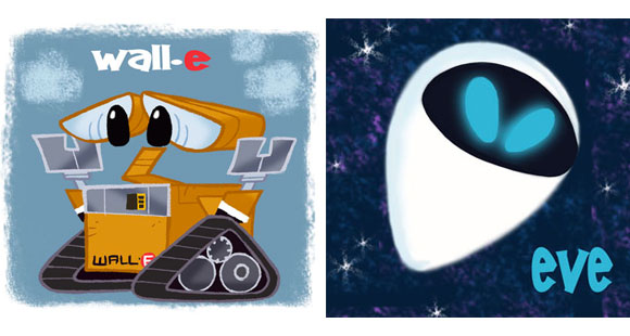 David Gilson - Wall-e and Eve