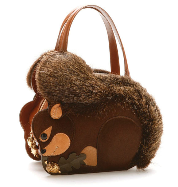 fall winter 2011 2012 collection, Braccialini Temi, borsa Scoiattolo squirrel bag