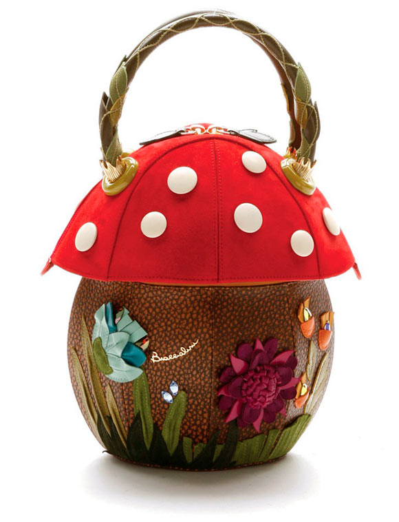 fall winter 2011 2012 collection, Braccialini Temi, mushroom bag, borsa fungo