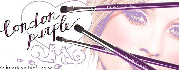 Neve Cosmetics - London Purple Brush Collection