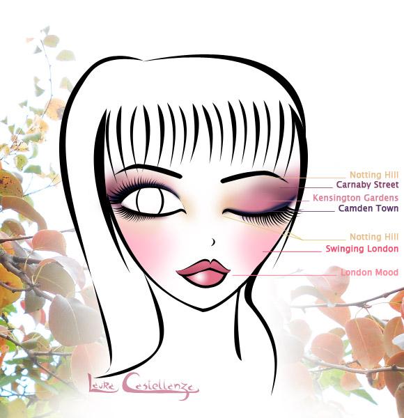 Autumn Spirit Make-up, Illustration by Laura Castellanza