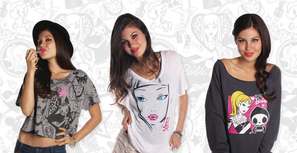 Tokidoki x Barbie Collection, tee t-shirt e magliette