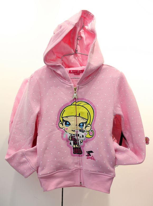Tokidoki x Barbie Collection, felpa rosa, pink hoodie