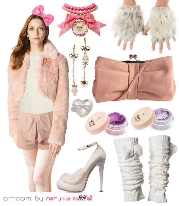 Cat Look: white pink Kitty Girl, ragazza gatto bianco, outfit by non solo Kawaii