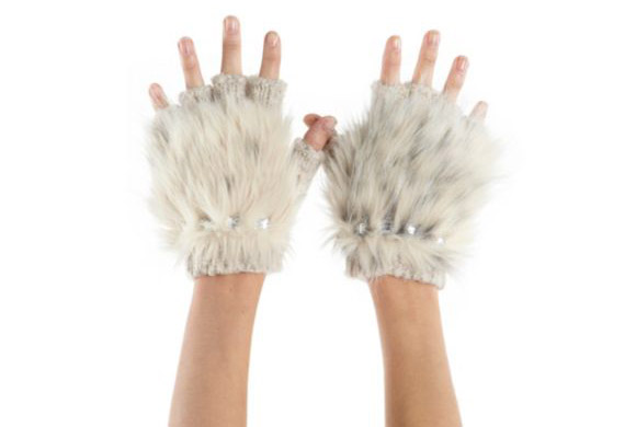 kawaii cute cat look: Dillard's Collection XIIX Fingerless Gloves, guanti in pelo da gatto
