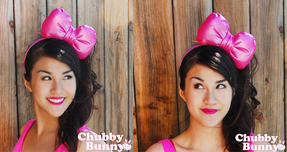 kawaii cute cat look: Chubby Bunny - Hello Kitty Bow Pink, fiocco da gatta
