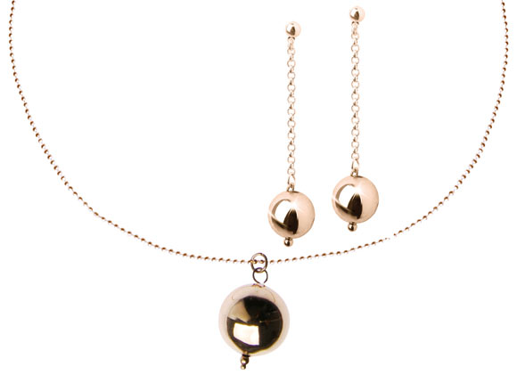 Chic Kawaii Look: Bon Ton, Be Chic - Sfera Necklace and Earrings, collana e orecchini romantici