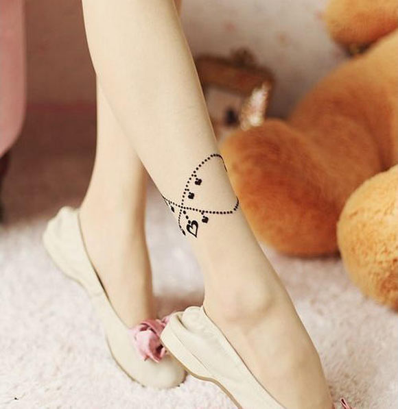 Chic Kawaii Look: Bon Ton, SHY SHY - Heart Print Tights calze romantic