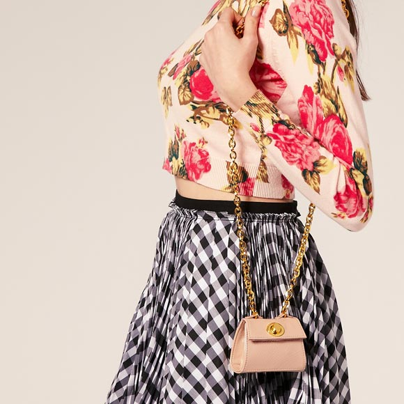 Chic Kawaii Look: Bon Ton, ASOS - Lady Bag Purse With Chain, piccola borsa rosa