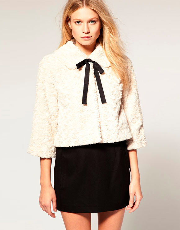 Chic Kawaii Look: Bon Ton, Vero Moda - Sweetheart Short Jacket, Latte pellicciotto romantico