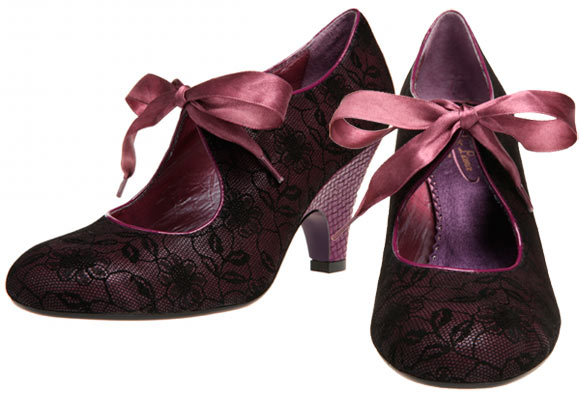 Chic Kawaii Look: Bon Ton, Poetic Licence - Sweet Ending Shoes, scarpe romantiche in pizzo nero