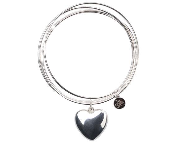 Chic Kawaii Look: Bon Ton, Be Chic - Cuore Bracelet, bracciale con cuore argento