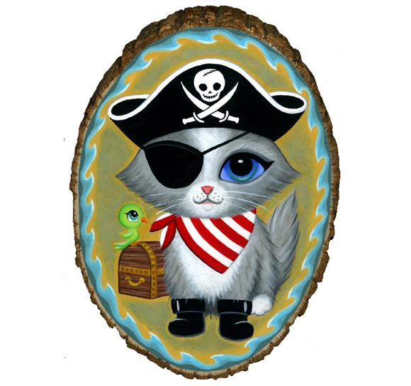 Lisa Petrucci Pirate Kitty, cute cat, gatto pirata