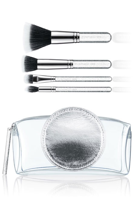 M·A·C Glitter and Ice Collection for Holiday 2011 / Make It Perfect Brush Kit, Mineralize / Brushes: 187 SE, 130 SE, 286 Duo Fibre Tapered Brush, 282 Duo Fibre Shader