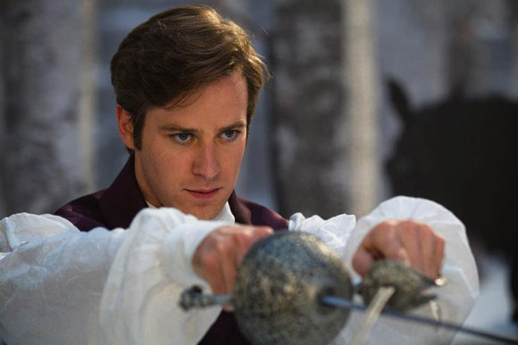 Snow White movie Mirror Mirror, Prince Andrew Alcott (Armie Hammer), il principe