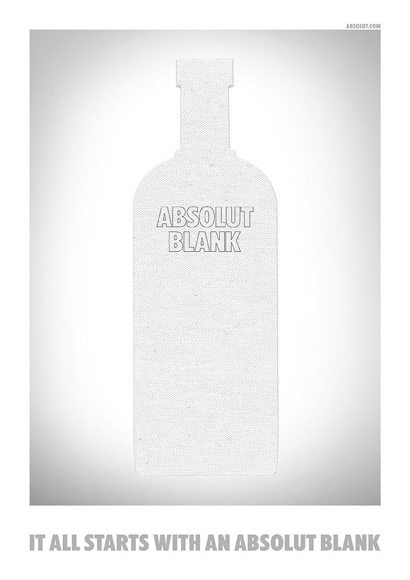 It all starts with an Absolut Blank